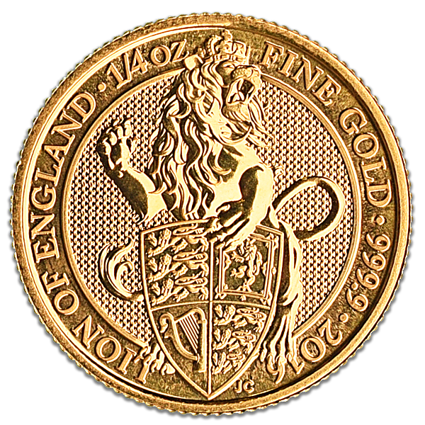 United Kingdom Gold Queen's Beast 2016 - Lion - 1/4 oz