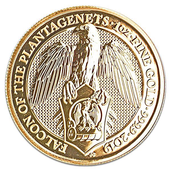 United Kingdom Gold Queen's Beast 2019 - The Falcon - 1 oz