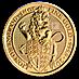 United Kingdom Gold Queen's Beast 2016 - Lion - 1/4 oz thumbnail