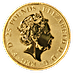 United Kingdom Gold Queen's Beast 2021 - The Greyhound of Richmond - 1/4 oz thumbnail