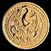 United Kingdom Gold Queen's Beast 2017 - Dragon - 1/4 oz thumbnail