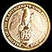 United Kingdom Gold Queen's Beast 2019 - The Falcon - 1/4 oz thumbnail