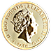 United Kingdom Gold Queen's Beast 2019 - The Falcon - 1 oz thumbnail