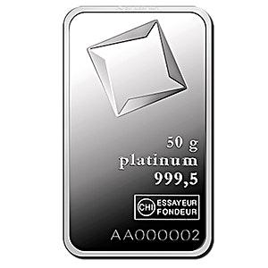 Valcambi Platinum Bar - 50 gram