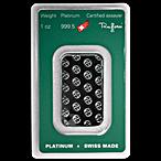Argor-Heraeus Platinum Bar - 1 oz thumbnail