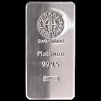 Argor-Heraeus Platinum Bar ~ 500 g (Actual weight: 503.7 g - 505.6 g)  thumbnail