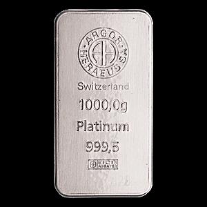 Argor Heraeus Platinum Bar - 1 kg