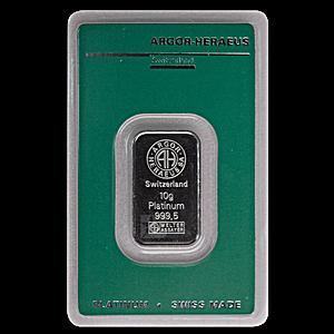 Argor-Heraeus Platinum Bar - 10 g
