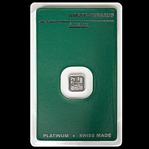 Argor-Heraeus Platinum Bar - 1 g