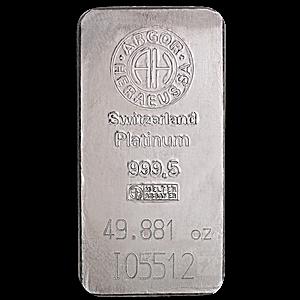 Argor-Heraeus Platinum Bar - 49.881 oz