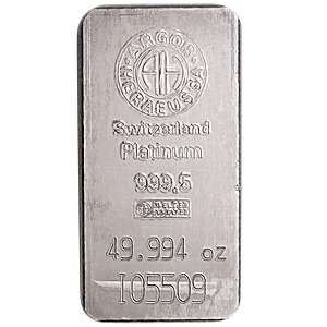 Argor-Heraeus Platinum Bar - 49.994 oz
