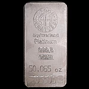 Argor-Heraeus Platinum Bar - 50.065 oz