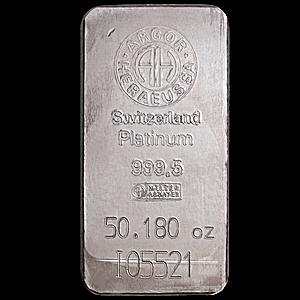 Argor-Heraeus Platinum Bar - 50.18 oz