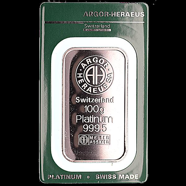 Argor-Heraeus Platinum Bar - 100 g