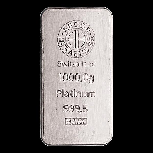 Argor-Heraeus Platinum Bar - 1 kg