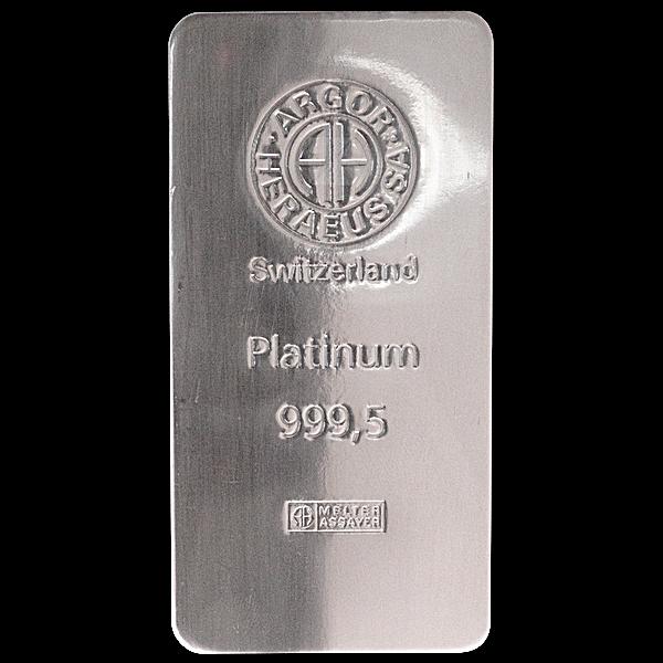 Argor-Heraeus Platinum Bar ~ 500 g (Actual weight: 503.7 g - 505.6 g)