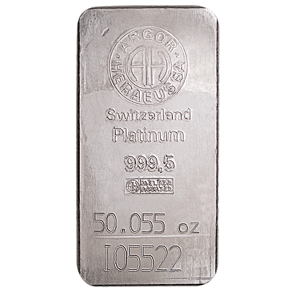 Argor-Heraeus Platinum Bar - 50.055 oz