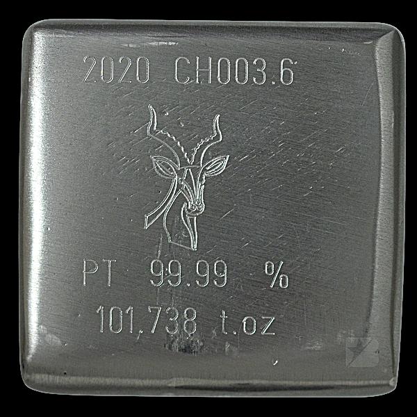 Heraeus Platinum Bar - 101.738 oz