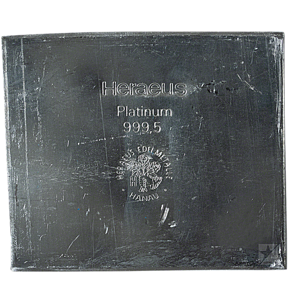 Heraeus Platinum Bar - 34.1 oz