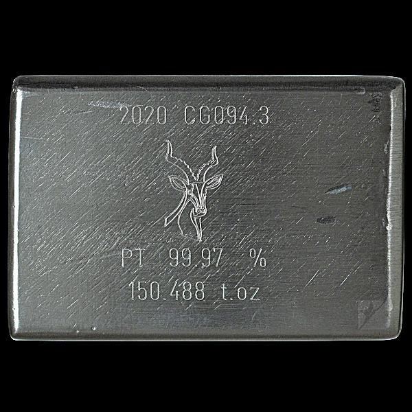 Heraeus Platinum Bar - 150.488 oz