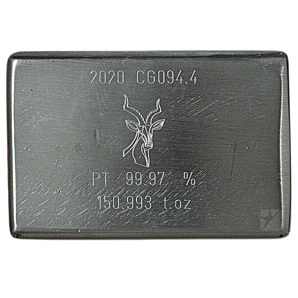 Heraeus Platinum Bar - 150.993 oz