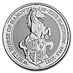 United Kingdom Platinum Queen's Beast 2021 - The White Horse of Hanover - 1 oz  thumbnail