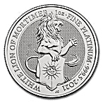 United Kingdom Platinum Queen's Beast 2021 - The White Lion - 1 oz  thumbnail