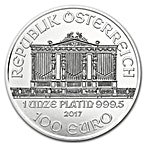 Austrian Platinum Philharmonic 2017 - 1 oz thumbnail