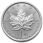 Canadian Platinum Maple Leaf 2017 - 1 oz  thumbnail