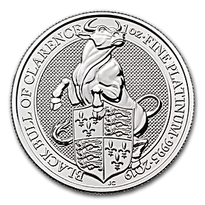 United Kingdom Platinum Queen's Beast 2019 - Black Bull - 1 oz