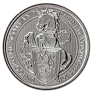 United Kingdom Platinum Queen's Beast 2019 - Unicorn - 1 oz