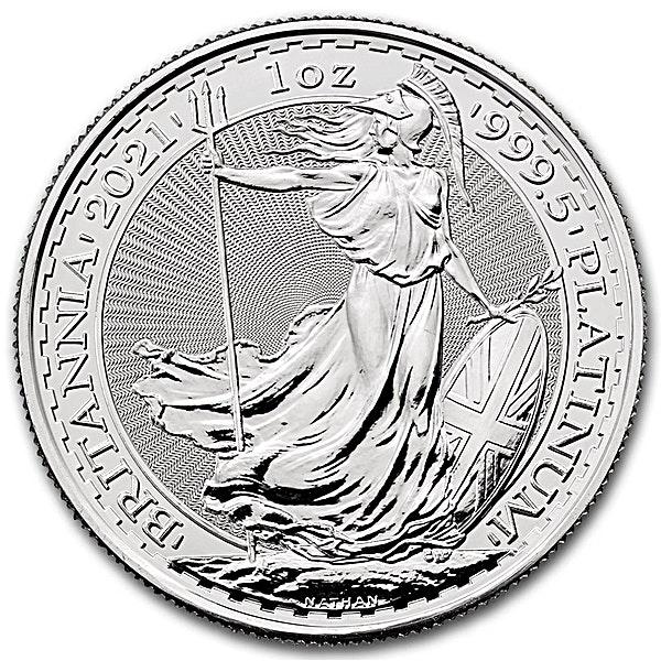 United Kingdom Platinum Britannia 2021 - 1 oz