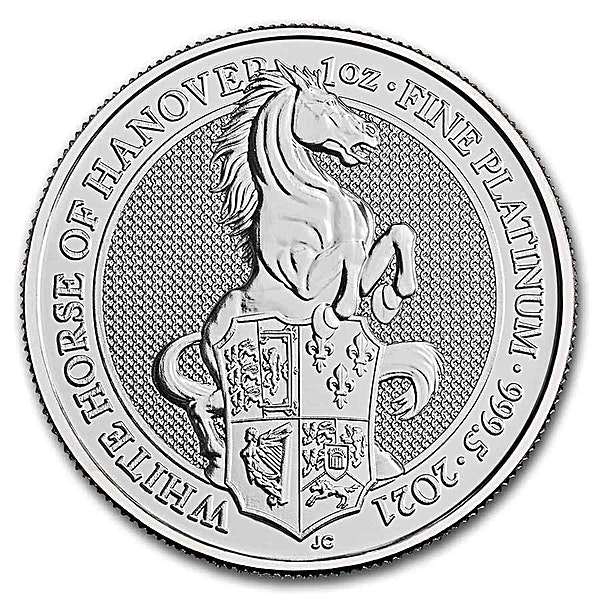 United Kingdom Platinum Queen's Beast 2021 - The White Horse of Hanover - 1 oz