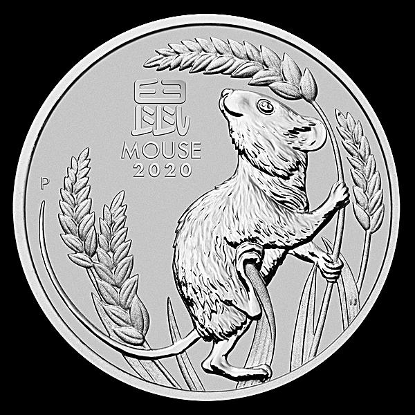 Australian Platinum Lunar Series 2020 - Year of the Mouse - 1 oz