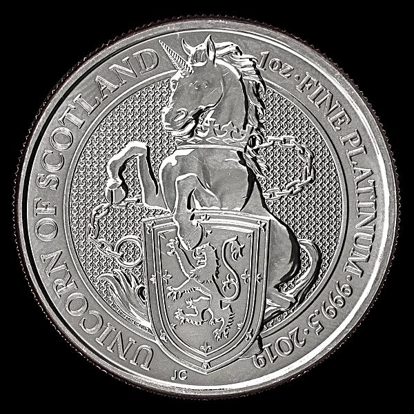 United Kingdom Platinum Queen's Beast 2019 - Unicorn - 1 oz