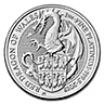 United Kingdom Platinum Queen's Beast 2018 - Dragon - 1 oz