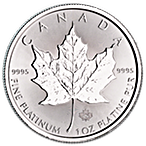 Canadian Platinum Maple Leaf 2018 - 1 oz  thumbnail