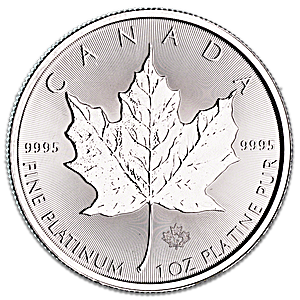 Canadian Platinum Maple Leaf 2018 - 1 oz