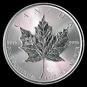 Canadian Platinum Maple Leaf 2021 - 1 oz