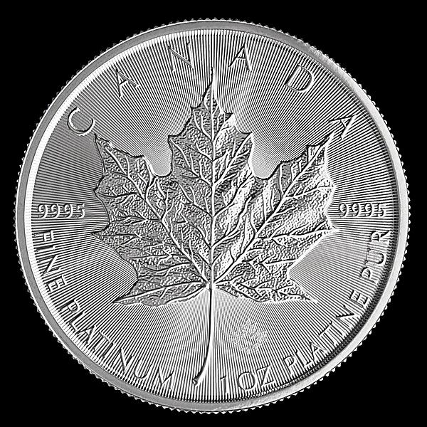 Canadian Platinum Maple Leaf 2019 - 1 oz