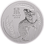 Australian Platinum Lunar Series 2020 - Year of the Mouse - 1 oz thumbnail