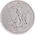 United Kingdom Platinum Britannia 2020 - 1 oz  thumbnail