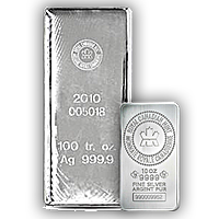 Royal Canadian Mint Silver Bars