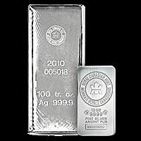 Royal Canadian Mint Silver Bars