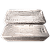 1000 oz +/- Good Delivery LBMA Silver Bars (Actual weight: 900 oz to 1100 oz)
