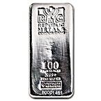 Silver Bar - Various Brands - LBMA - 100 oz thumbnail