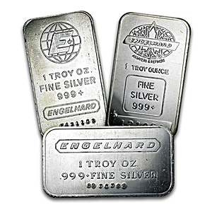 Engelhard Corporation Silver Bar 1 Oz Bullionstar