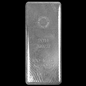 Royal Canadian Mint Silver Bar - 100 oz