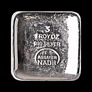 Nadir Refinery Silver Bar - 3 oz