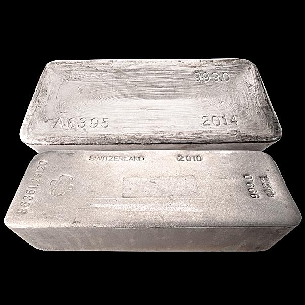 Bundle of 10 pieces LBMA Good Delivery Silver Bars - 9834.867 oz silver